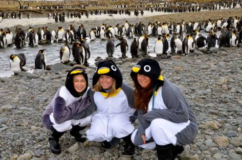 Agnes, Sandra and Nicole in Antarctica