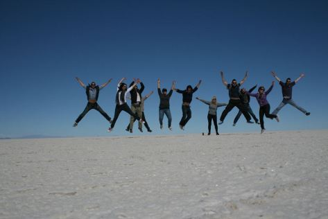 Playing on the Salar