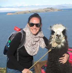 Georgina and her Llama